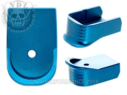 NDZ Blue Magazine Base Plate Finger Extension For Glock 30 10-Round