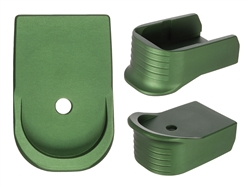 NDZ Green Magazine Base Plate Finger Extension For Glock 30 10-Round