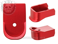 NDZ Red Magazine Base Plate Finger Extension For Glock 30 10-Round