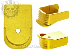NDZ Gold Magazine Base Plate Finger Extension For Glock 30 10-Round