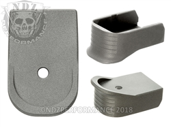 NDZ Magazine Base Plate Finger Extension For Glock 30 10-Round Cerakote Tungsten