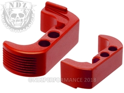 NDZ Red Extended Magazine Release - Reversible for Glock 42 (*LZ)