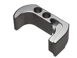 NDZ Silver Extended Magazine Release - Reversible for Glock 42 (*LZ)