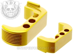 NDZ Gold Extended Magazine Release - Reversible for Glock 42 (*LZ)