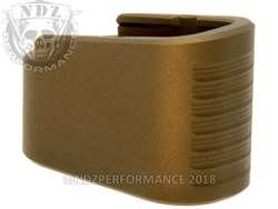 NDZ Mag Extension For Glock 42 Cerakote Burnt Bronze