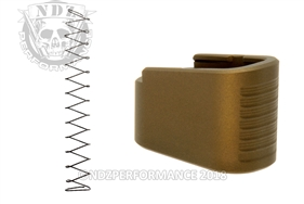 NDZ +2 Mag Extension & Ghost Magazine Spring For Glock 42 in Cerakote Burnt Bronze