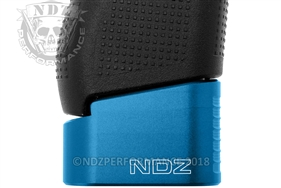 NDZ Blue Plus Two Magazine Plate Extension for Glock 42 (*LZ)