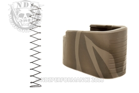 NDZ +2 Mag Extension & Ghost Magazine Spring For Glock 42 in Cerakote Tiger Stripe