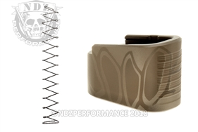 NDZ +2 Mag Extension & Ghost Magazine Spring For Glock 42 in Cerakote Cryptek