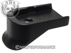 NDZ Performance Customized Glock 42 Black Finger Extension Mag Plate