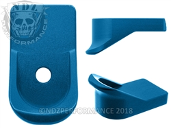 NDZ Blue Magazine Plate Finger Extension for Glock 42 (*LZ)