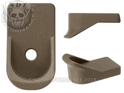 NDZ Performance Customized Glock 42 HC FDE Finger Extension Mag Plate