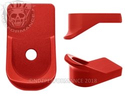 NDZ Red Magazine Plate Finger Extension for Glock 42 (*LZ)