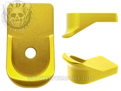 NDZ Gold Magazine Plate Finger Extension for Glock 42 (*LZ)
