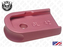NDZ Pink Magazine Plate for Glock 42 (*LZ)