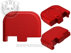 NDZ Red Glock Back Plate fits 42 (*LZ)