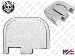 NDZ Silver Rear Plate for Glock 42 (*LZ)