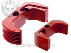 Glock 43 Reversible Magazine Release - NDZ Performance Aluminum Upgrade - Red