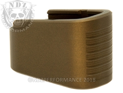 NDZ +2 Mag Extension For Glock 43 in Cerakote Burnt Bronze