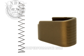 NDZ +2 Mag Extension & Ghost Magazine Spring For Glock 43 in Cerakote Burnt Bronze