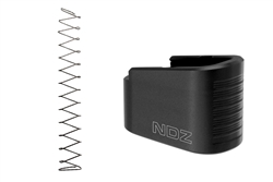 NDZ Black Plus Two Magazine Plate with Ghost Magazine Spring for Glock 43 (*LZ)