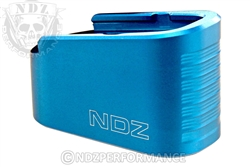NDZ Blue Plus Two Magazine Plate Extension for Glock 43 (*LZ)