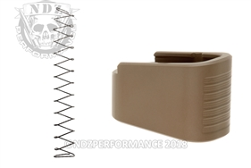 +2 Magazine Extension Ghost Kit For Glock 43 Cerakote FDE | NDZ Performance
