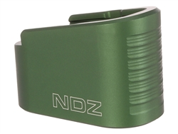 NDZ Green Plus Two Magazine Plate Extension for Glock 43 (*LZ)