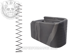 Mag Plate Glock 43 Black & Tungsten Tiger Stripe