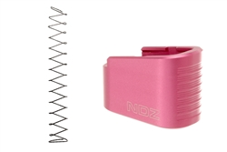 NDZ Pink Plus Two Magazine Plate with Ghost Magazine Spring for Glock 43 (*LZ)