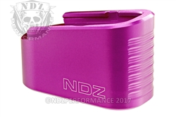 NDZ Purple Plus Two Magazine Plate Extension for Glock 43 (*LZ)