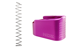 NDZ Purple Plus Two Magazine Plate with Ghost Magazine Spring for Glock 43 (*LZ)