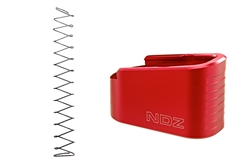 NDZ Red Plus Two Magazine Plate with Ghost Magazine Spring for Glock 43 (*LZ)