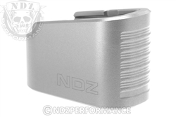 NDZ Silver Plus Two Magazine Plate Extension for Glock 43 (*LZ)