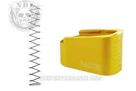 NDZ Gold Plus Two Magazine Plate with Ghost Magazine Spring for Glock 43 (*LZ)
