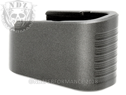 NDZ Plus Two Magazine Plate Extension for Glock 43 Cerakote Tungsten