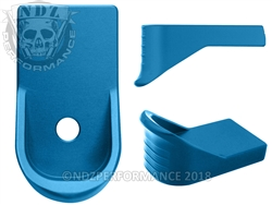 NDZ Blue Magazine Plate Finger Extension for Glock 43 (*LZ)