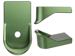 NDZ Green Magazine Plate Finger Extension for Glock 43 (*LZ)