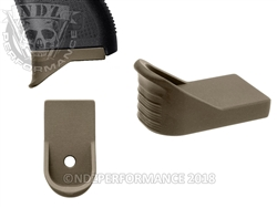 NDZ HC FDE Magazine Plate Finger Extension for Glock 43 (*LZ)