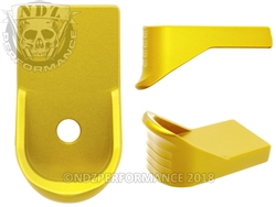 NDZ Gold Magazine Plate Finger Extension for Glock 43 (*LZ)