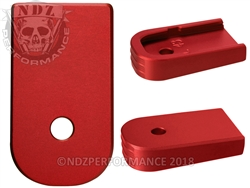 NDZ Red Magazine Plate for Glock 43 (*LZ)