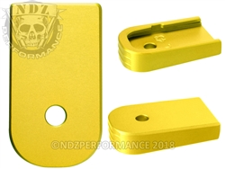 NDZ Gold Magazine Plate for Glock 43 (*LZ)