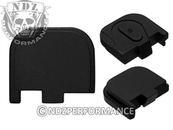 NDZ Engravable Black Glock Back Plate fits 43 43x 48