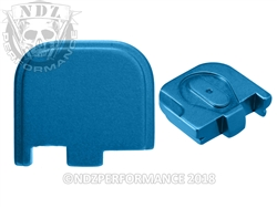 Glock 43 Rear Slide Cover Plate - Blue