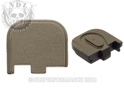 NDZ Engravable HC FDE Rear Plate for Glock 43