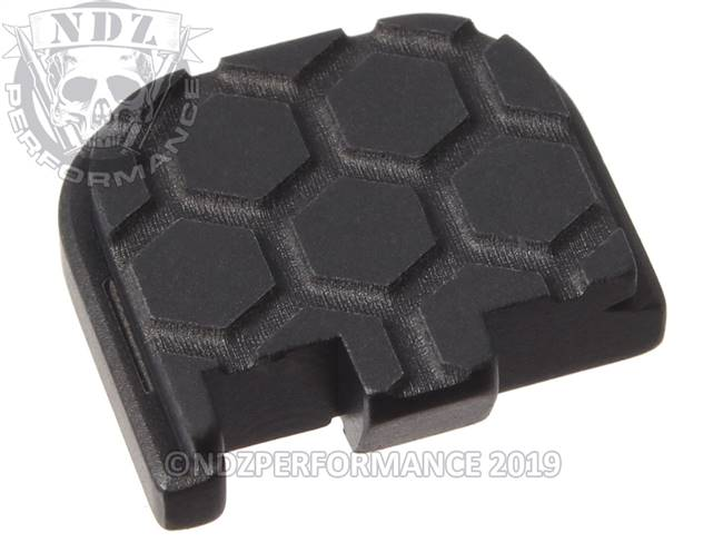 Black Glock 43 Rear Slide Plate HC