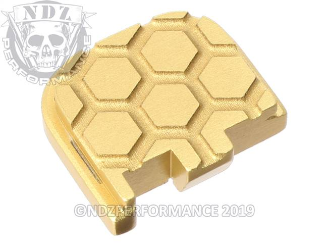 Gold Glock 43 Rear Slide Plate HC