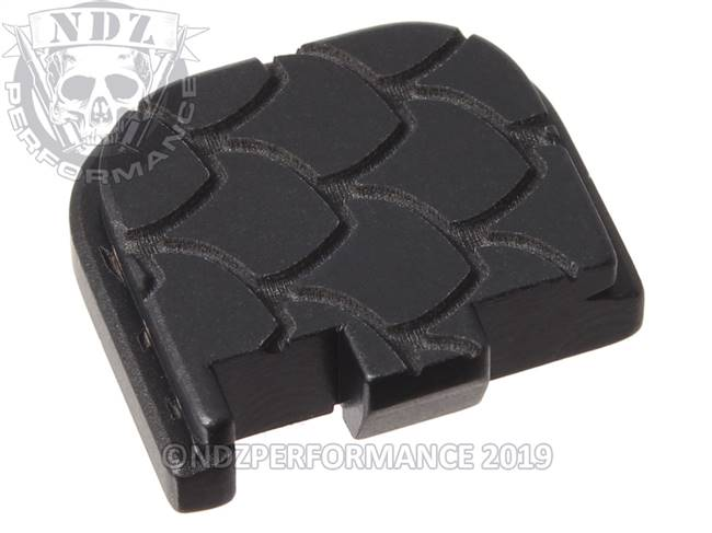 Black Glock 43 Rear Slide Plate SC