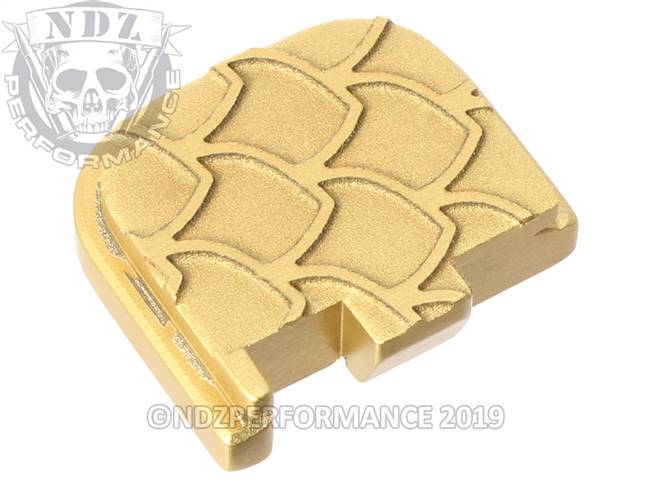 Gold Glock 43 Rear Slide Plate SC Inv