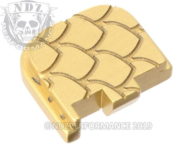 Gold Glock 43 Rear Slide Plate SC